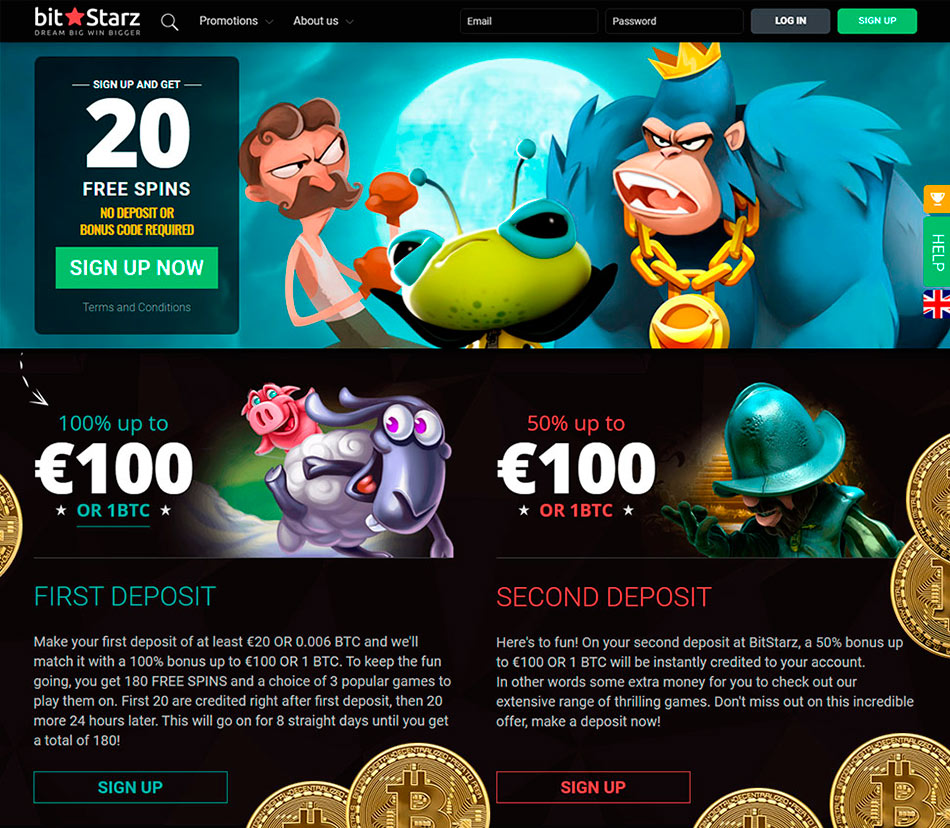 Crypto gambling site